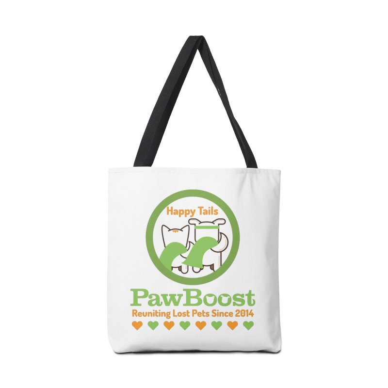 Happy Tails Accessories Tote Bag Bag by PawBoost's Shop