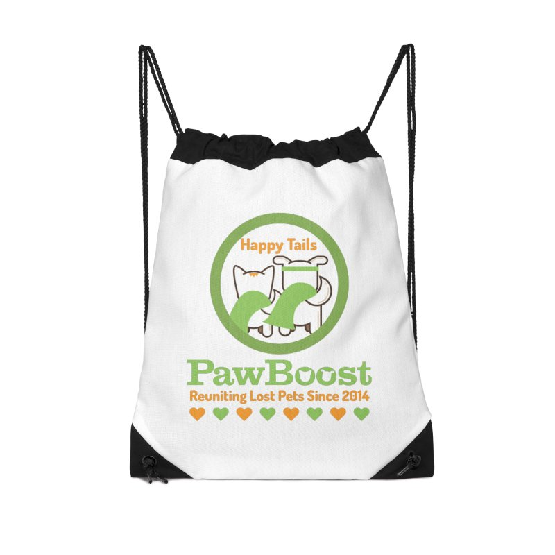 Happy Tails Accessories Drawstring Bag Bag by PawBoost's Shop