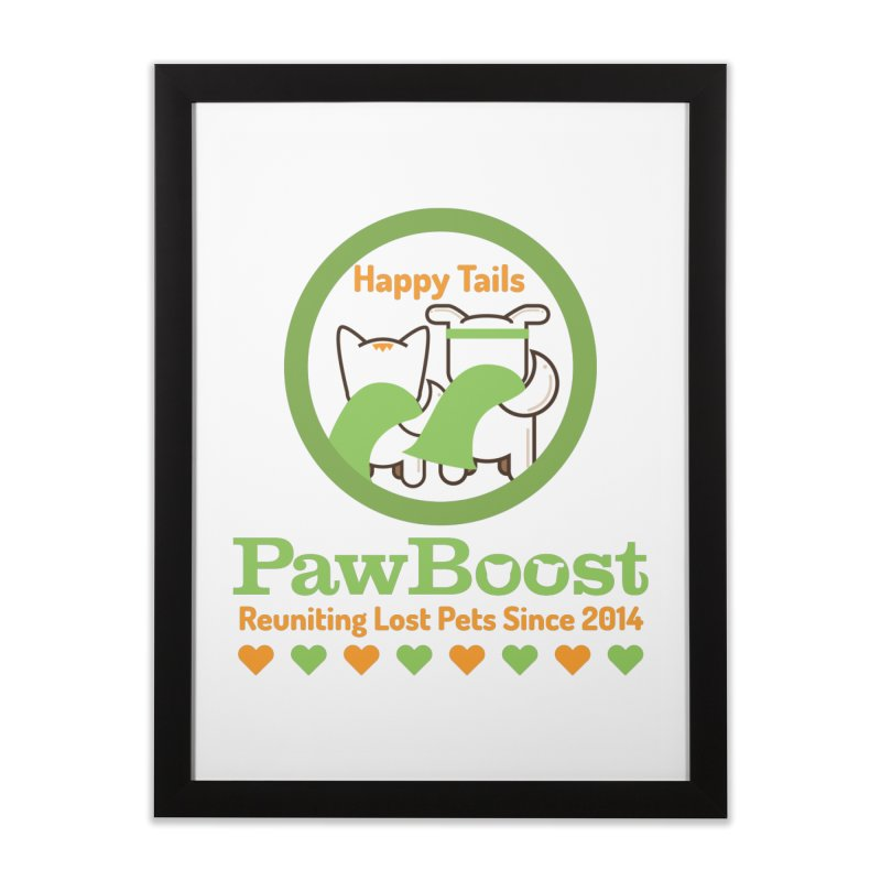 Happy Tails Home Framed Fine Art Print by PawBoost's Shop