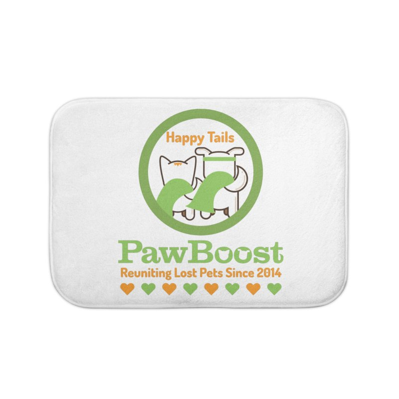 Happy Tails Home Bath Mat by PawBoost's Shop