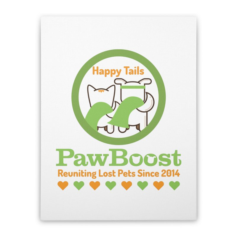 Happy Tails Home Stretched Canvas by PawBoost's Shop