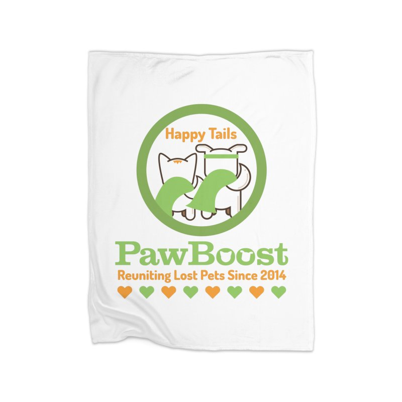 Happy Tails Home Fleece Blanket Blanket by PawBoost's Shop
