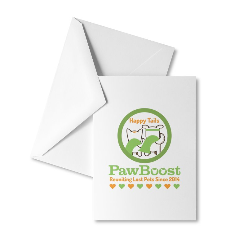 Happy Tails Accessories Greeting Card by PawBoost's Shop