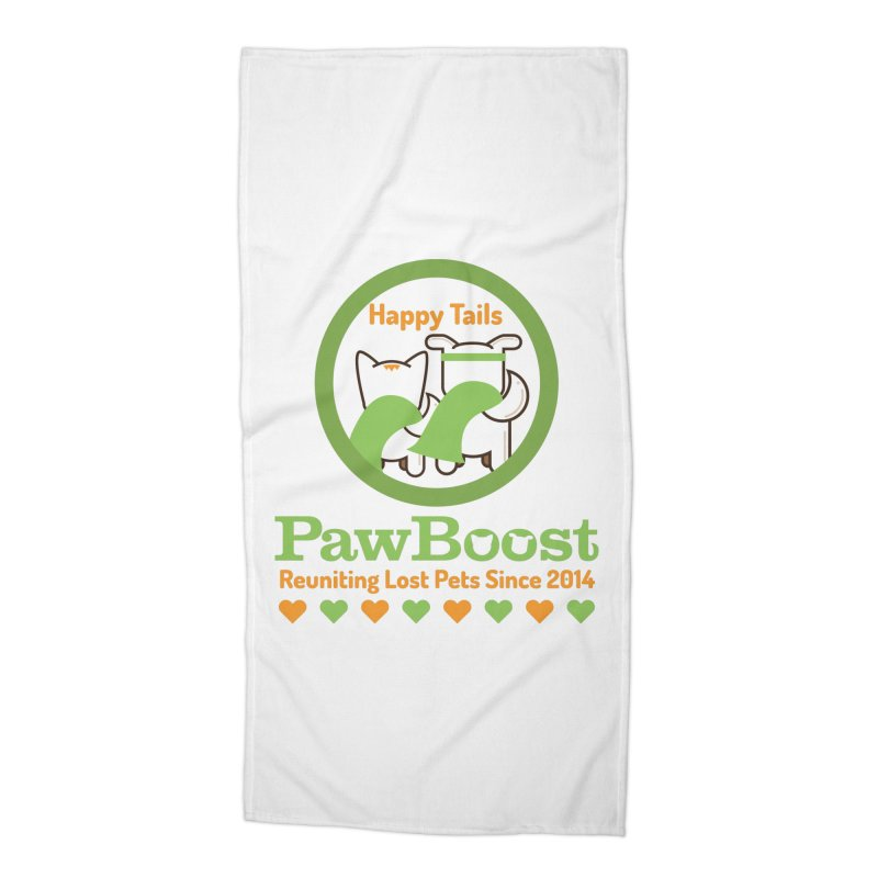 Happy Tails Accessories Beach Towel by PawBoost's Shop