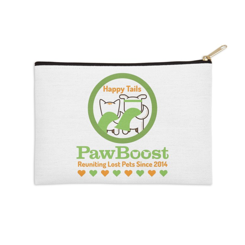 Happy Tails Accessories Zip Pouch by PawBoost's Shop