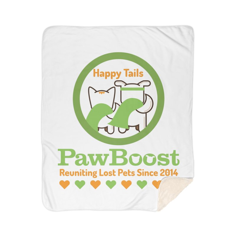 Happy Tails Home Sherpa Blanket Blanket by PawBoost's Shop