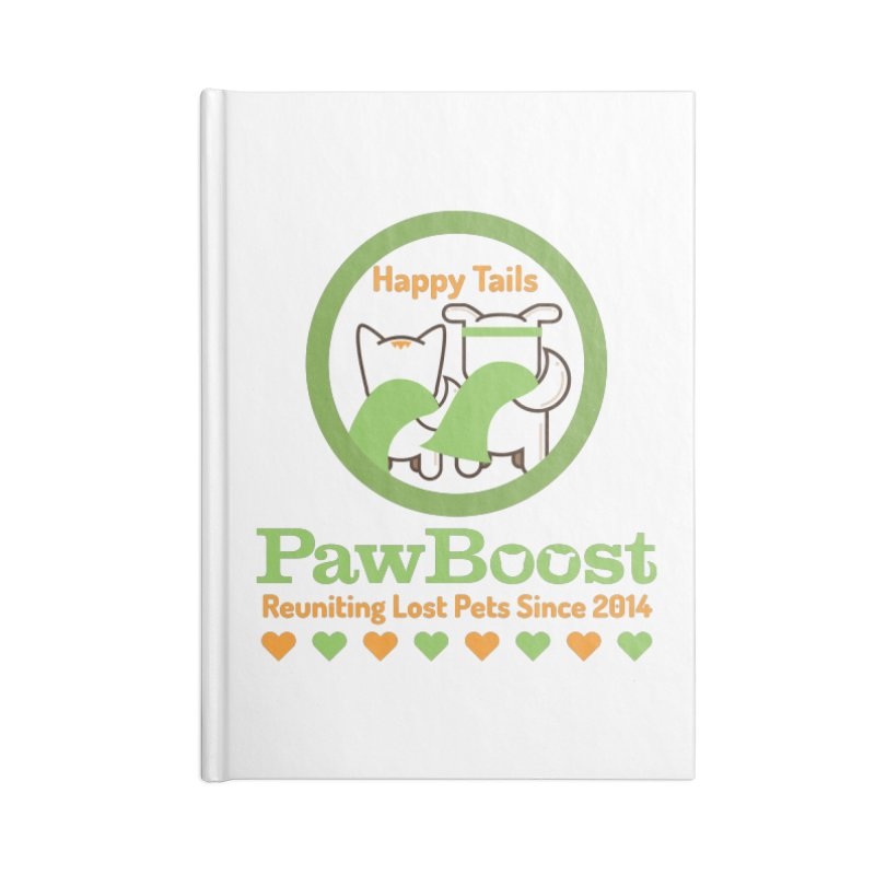 Happy Tails Accessories Blank Journal Notebook by PawBoost's Shop