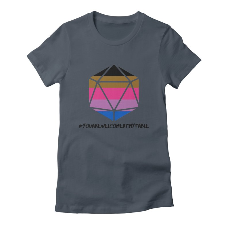 You Are Welcome at my Table (BIMPOC Bi) (Light) Women's T-Shirt by #youarewelcomeatmytable | A Pawn's Perspective