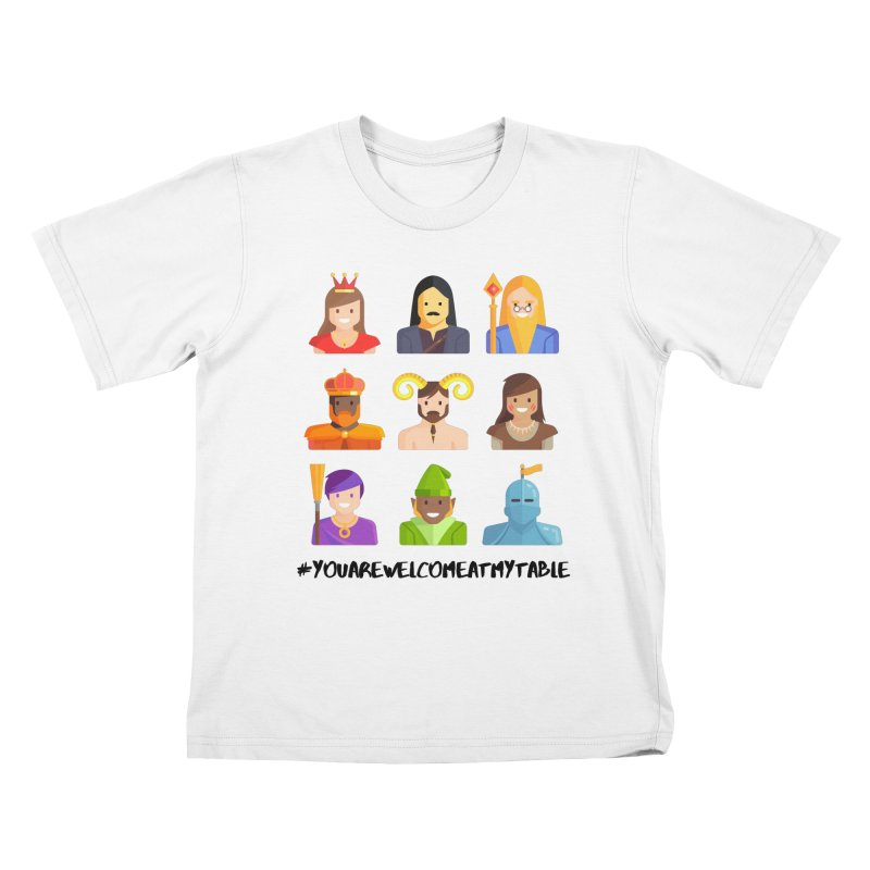 You Are Welcome At My Table (Roll for the Win) (Light) Kids T-Shirt by #youarewelcomeatmytable | A Pawn's Perspective