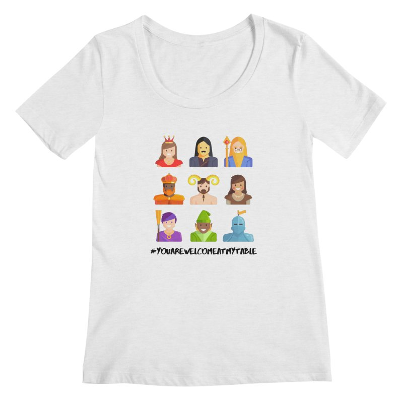You Are Welcome At My Table (Roll for the Win) (Light) Women's Scoop Neck by #youarewelcomeatmytable | A Pawn's Perspective