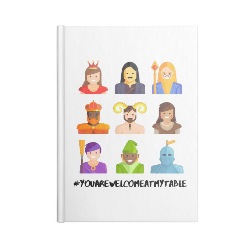 You Are Welcome At My Table (Roll for the Win) (Light) Accessories Notebook by #youarewelcomeatmytable | A Pawn's Perspective