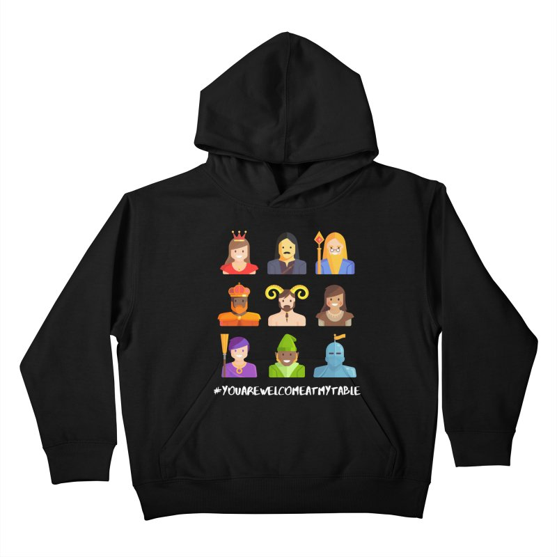 You Are Welcome At My Table (Roll for the Win) (Dark) Kids Pullover Hoody by #youarewelcomeatmytable | A Pawn's Perspective