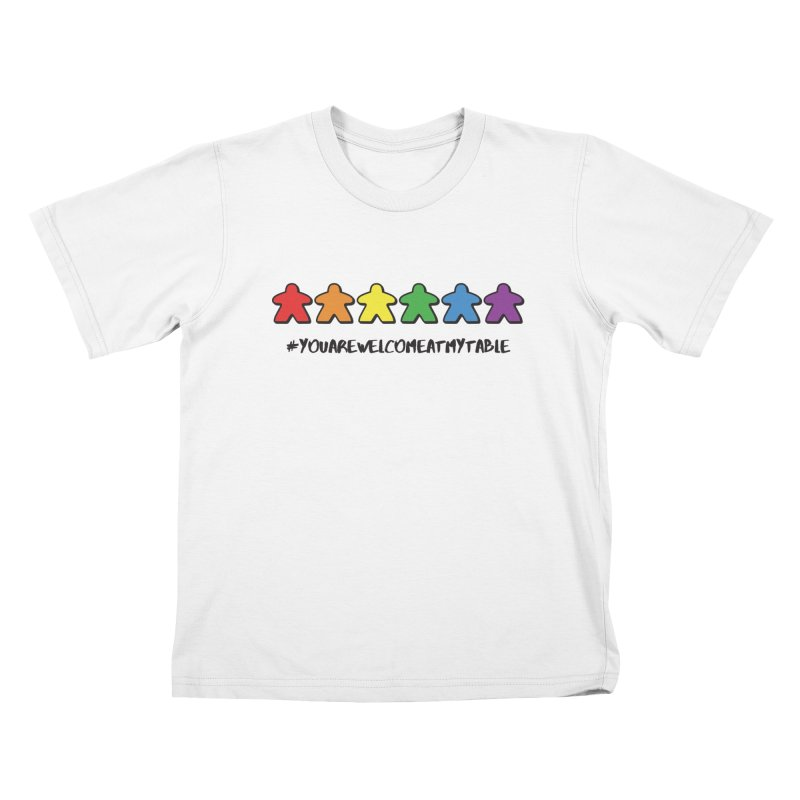 You Are Welcome At My Table (Tim Blank) (Light) Kids T-Shirt by #youarewelcomeatmytable | A Pawn's Perspective