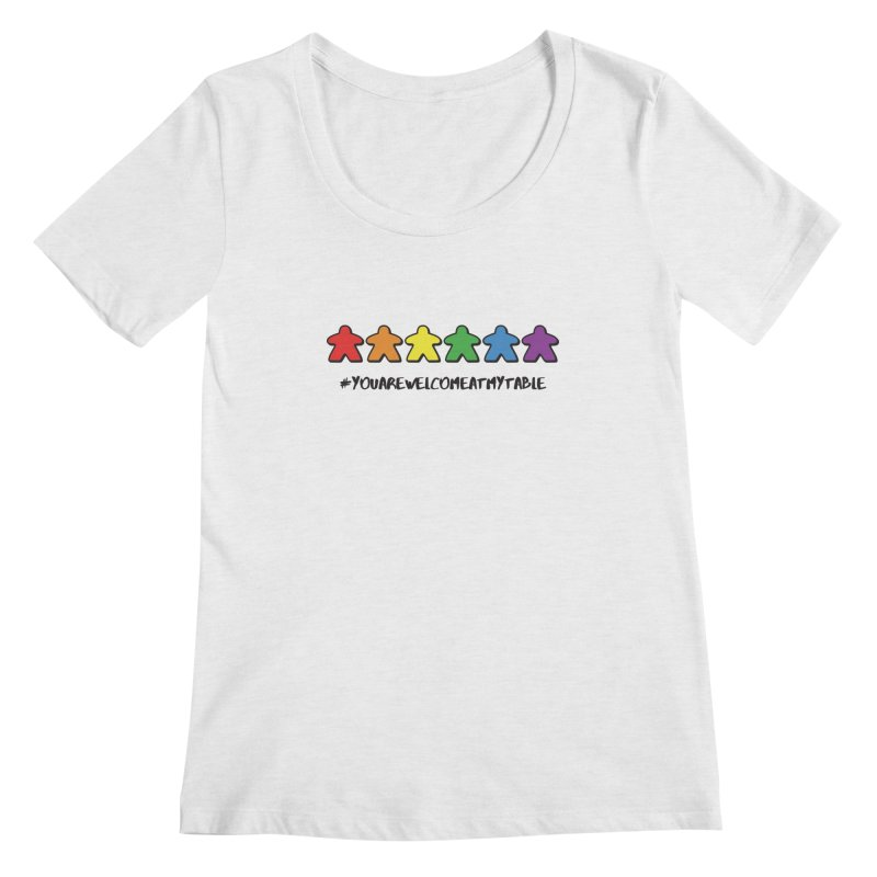 You Are Welcome At My Table (Tim Blank) (Light) Women's Regular Scoop Neck by #youarewelcomeatmytable | A Pawn's Perspective