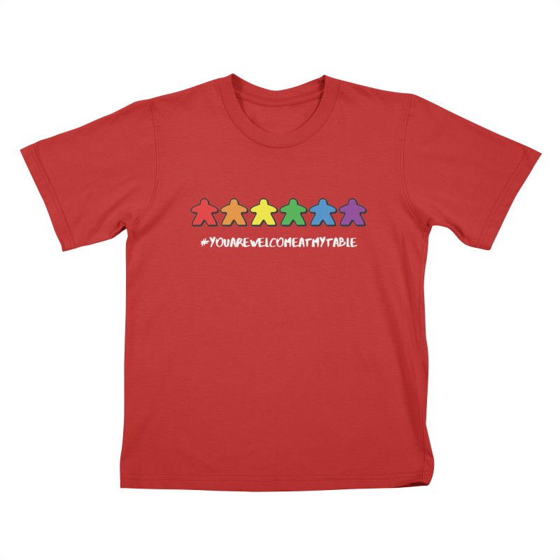 You Are Welcome At My Table (Tim Blank) (Dark) Kids T-Shirt by #youarewelcomeatmytable   A Pawn's Perspective