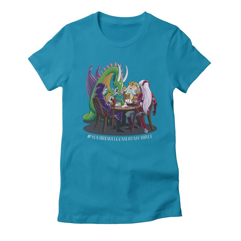You Are Welcome At My Table (Ben Fascitelli) (Dark) Women's Fitted T-Shirt by #youarewelcomeatmytable | A Pawn's Perspective