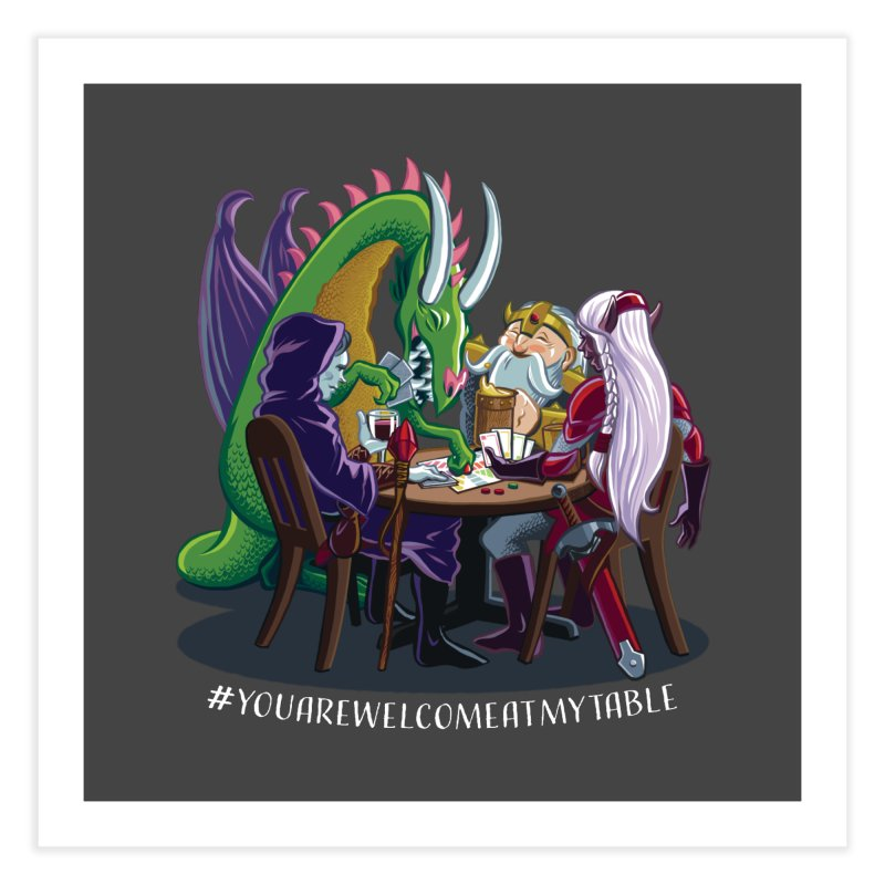 You Are Welcome At My Table (Ben Fascitelli) (Dark) Home Fine Art Print by #youarewelcomeatmytable | A Pawn's Perspective