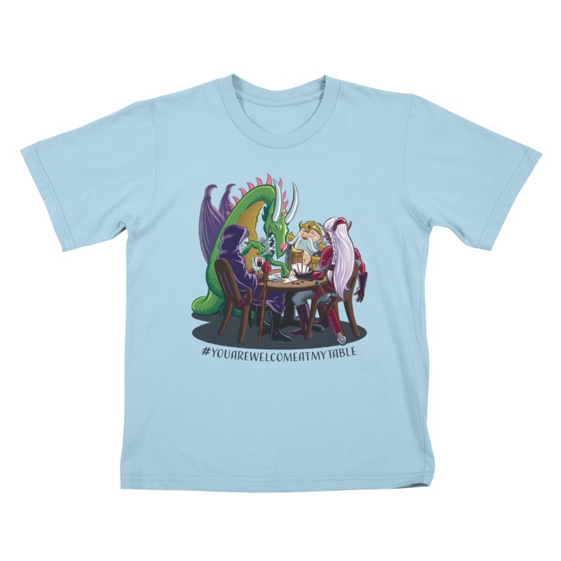 You Are Welcome At My Table (Ben Fascitelli) (Light) Kids T-Shirt by #youarewelcomeatmytable | A Pawn's Perspective