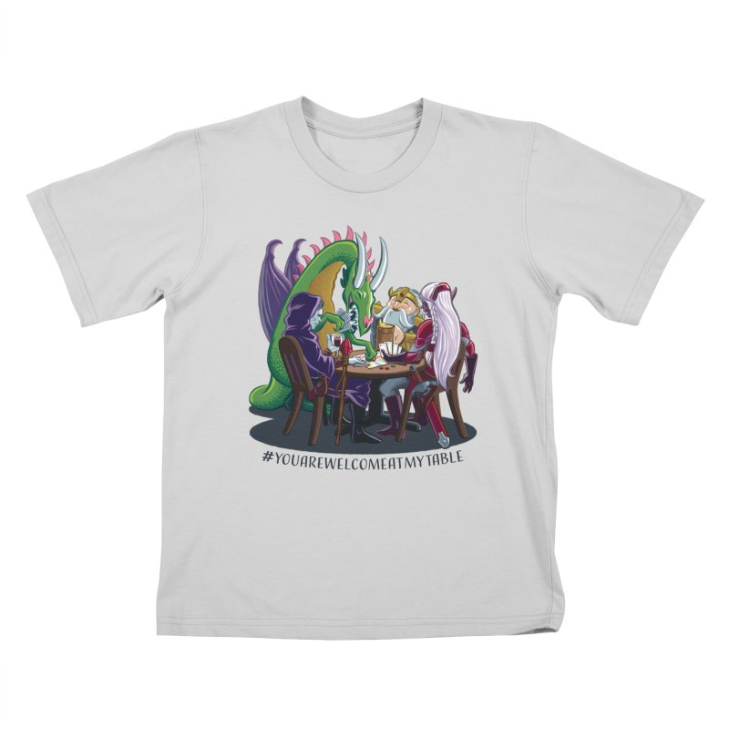 You Are Welcome At My Table (Ben Fascitelli) (Light) Kids T-Shirt by #youarewelcomeatmytable   A Pawn's Perspective