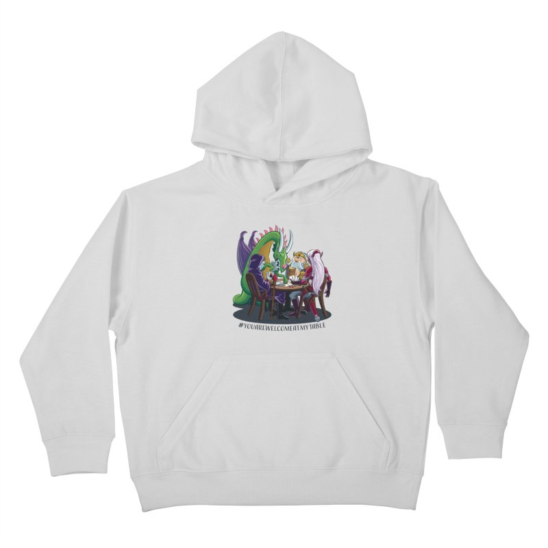 You Are Welcome At My Table (Ben Fascitelli) (Light) Kids Pullover Hoody by #youarewelcomeatmytable | A Pawn's Perspective