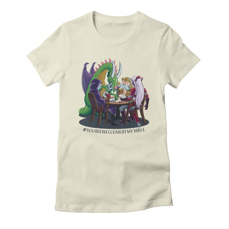 You Are Welcome At My Table (Ben Fascitelli) (Light) Women's Fitted T-Shirt by #youarewelcomeatmytable | A Pawn's Perspective