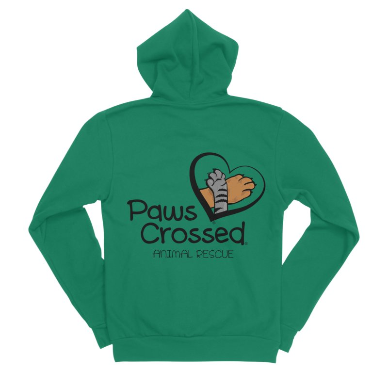 Paws Crossed! Women's Sponge Fleece Zip-Up Hoody by Paws Crossed Online Store