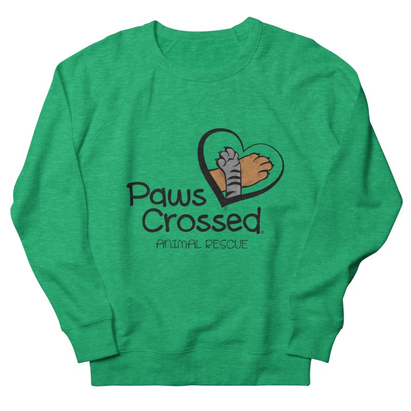 Paws Crossed! Men's French Terry Sweatshirt by Paws Crossed Online Store