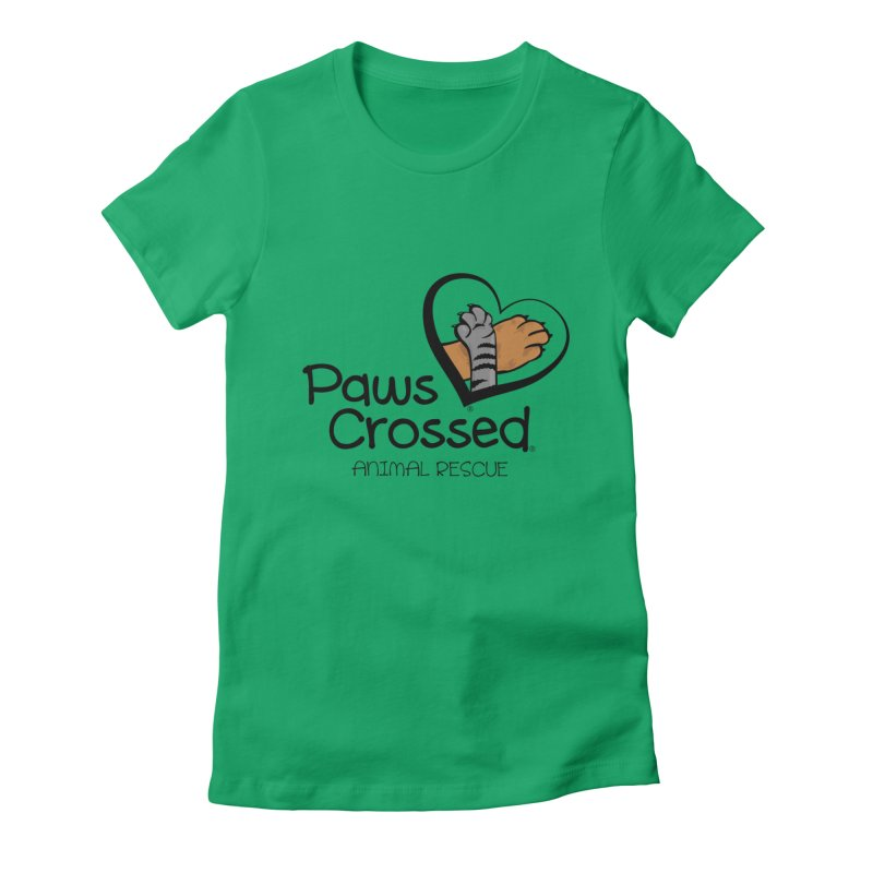 Paws Crossed! Women's Fitted T-Shirt by Paws Crossed Online Store