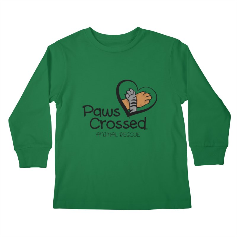Paws Crossed! Kids Longsleeve T-Shirt by Paws Crossed Online Store
