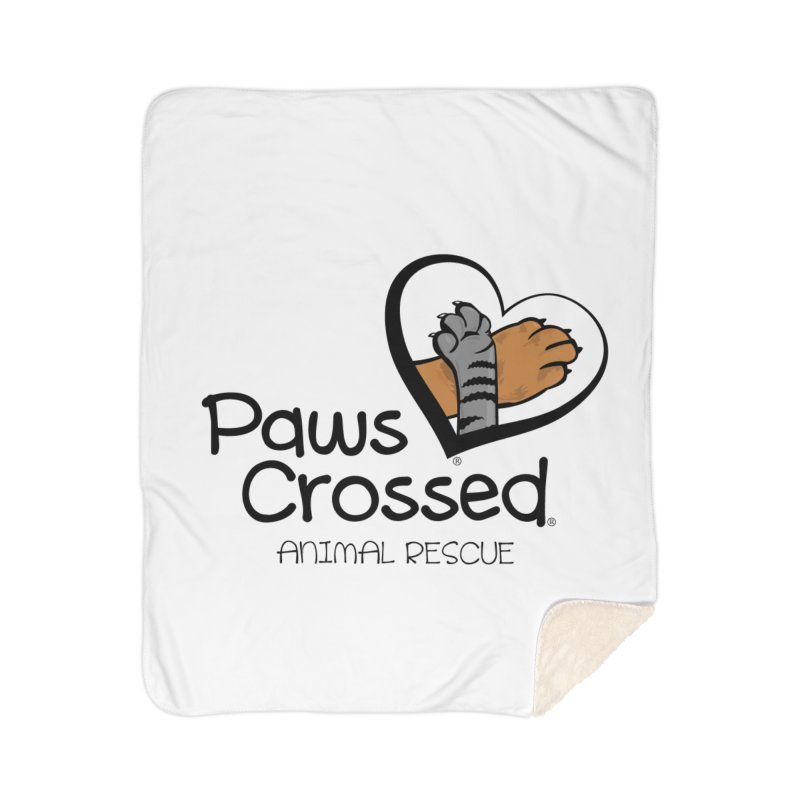 Paws Crossed! Home Sherpa Blanket Blanket by Paws Crossed Online Store