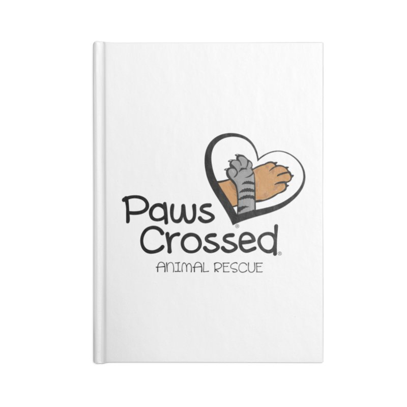 Paws Crossed! Accessories Lined Journal Notebook by Paws Crossed Online Store