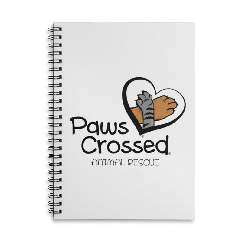 Paws Crossed! Accessories Lined Spiral Notebook by Paws Crossed Online Store
