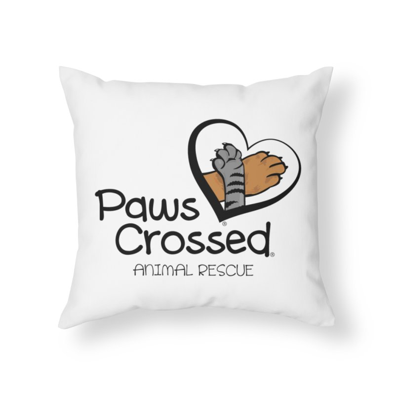 Paws Crossed! Home Throw Pillow by Paws Crossed Online Store