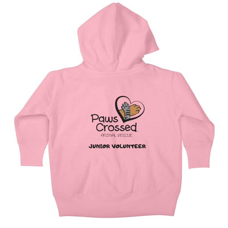 Junior Volunteer Kids Baby Zip-Up Hoody by Paws Crossed Online Store