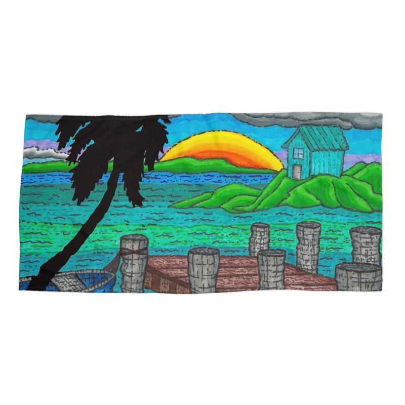 Paradise Accessories Beach Towel by Paxton's Artist Shop
