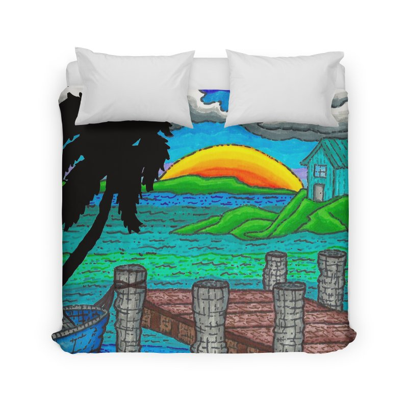 Paradise Home Duvet by Paxton's Artist Shop