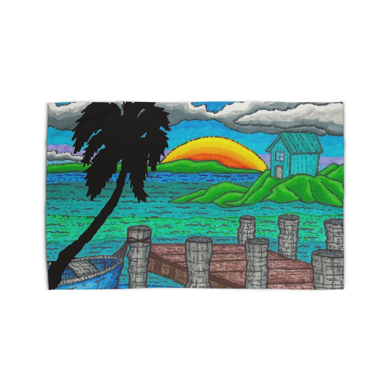 Paradise Home Rug by Paxton's Artist Shop