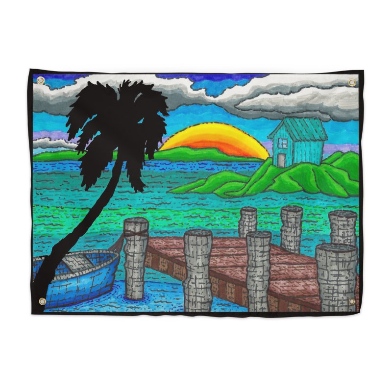 Paradise Home Tapestry by Paxton's Artist Shop