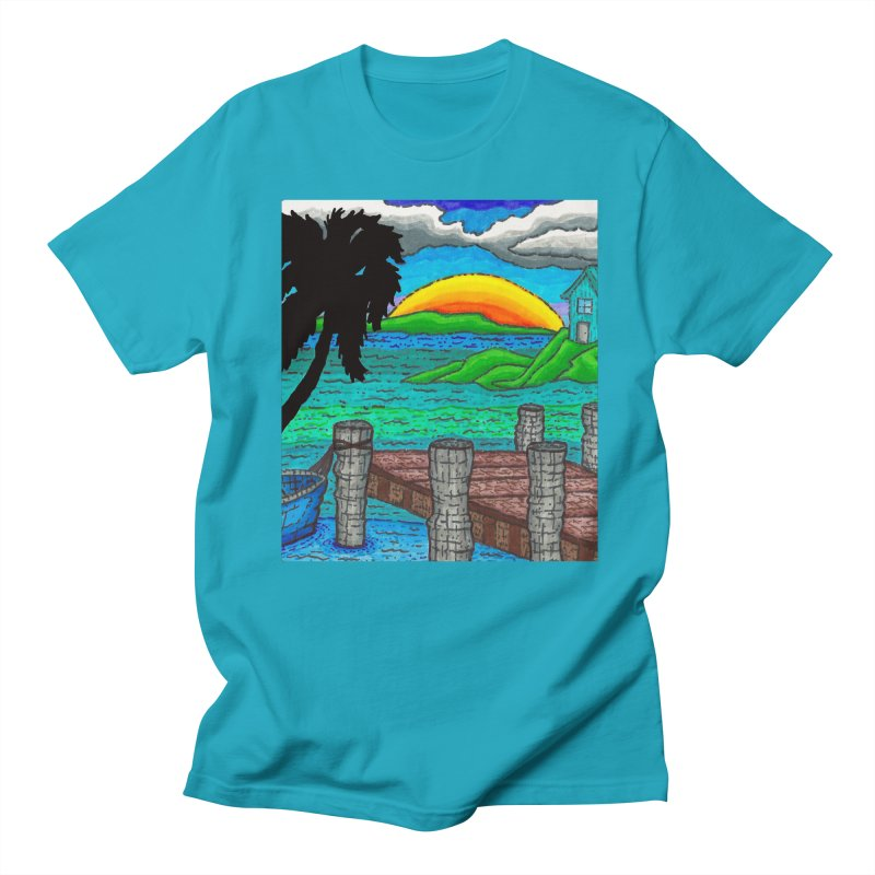 Paradise Men's T-Shirt by Paxton's Artist Shop