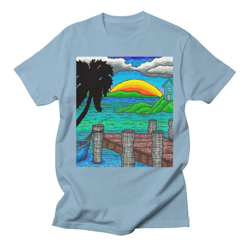 Paradise Men's Regular T-Shirt by Paxton's Artist Shop