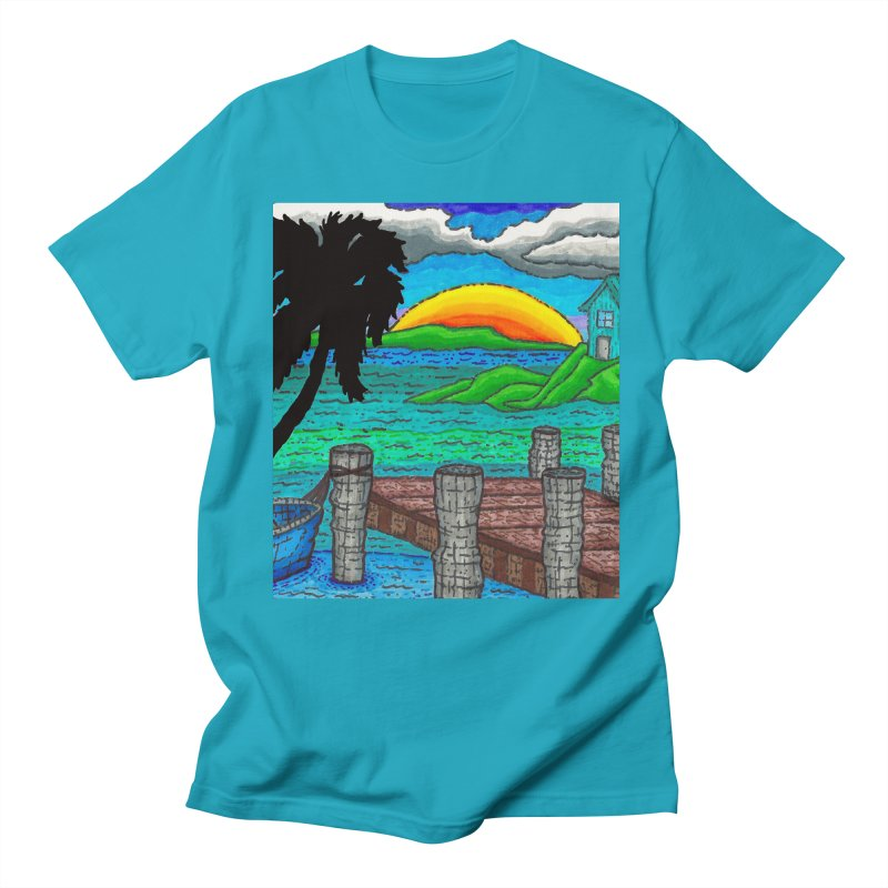 Paradise Women's Regular Unisex T-Shirt by Paxton's Artist Shop