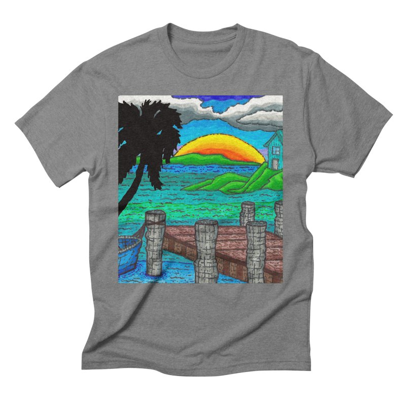 Paradise Men's Triblend T-Shirt by Paxton's Artist Shop