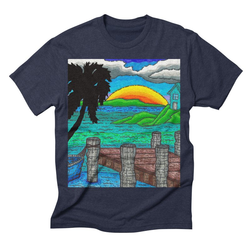 Paradise Men's Triblend T-shirt by Paxton's Artist Shop