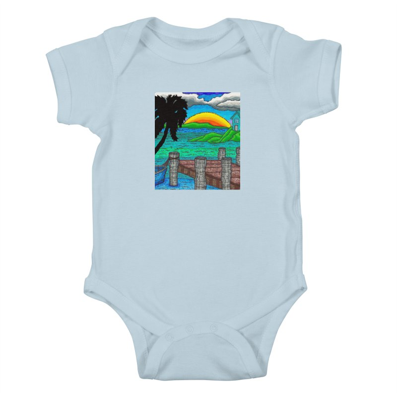 Paradise Kids Baby Bodysuit by Paxton's Artist Shop