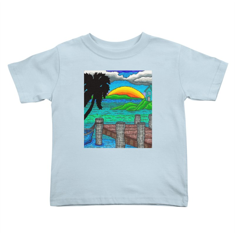 Paradise Kids Toddler T-Shirt by Paxton's Artist Shop