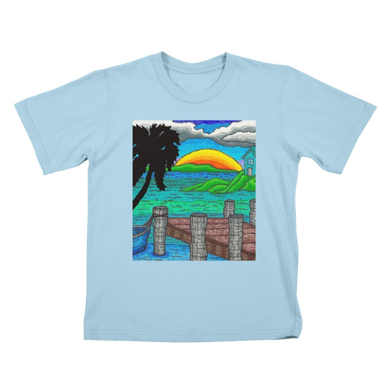 Paradise Kids T-Shirt by Paxton's Artist Shop