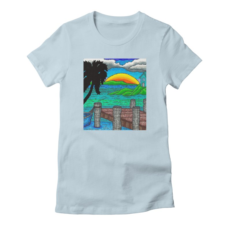 Paradise Women's T-Shirt by Paxton's Artist Shop