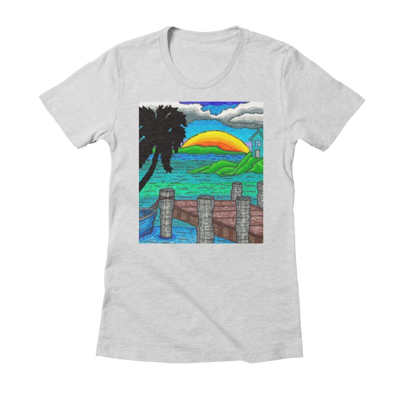 Paradise Women's Fitted T-Shirt by Paxton's Artist Shop