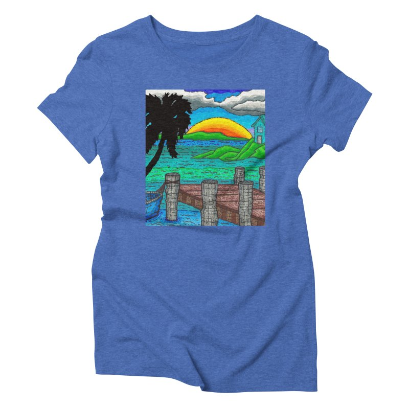Paradise Women's Triblend T-Shirt by Paxton's Artist Shop