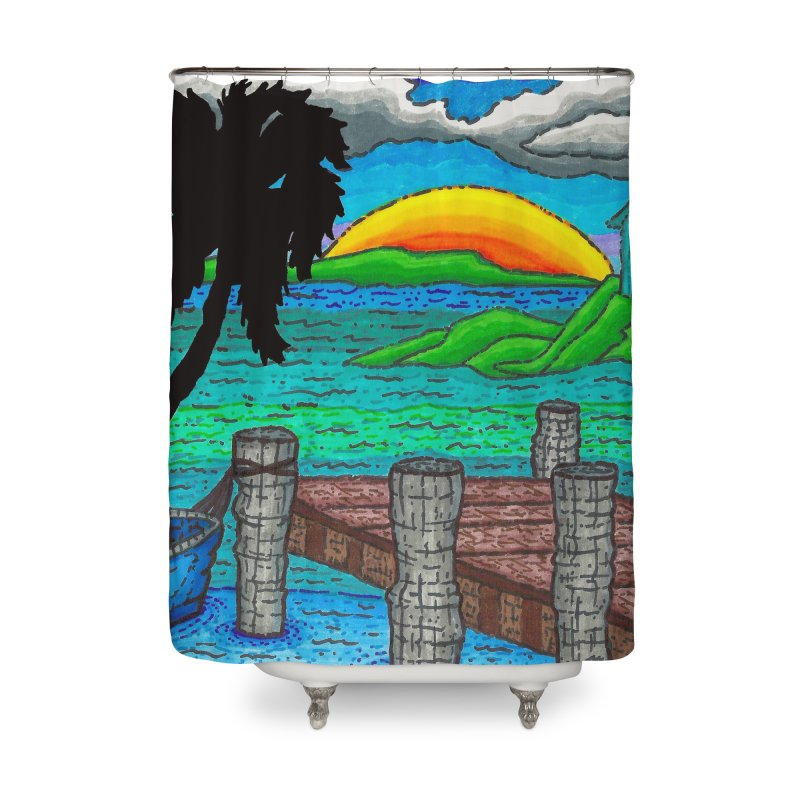 Paradise Home Shower Curtain by Paxton's Artist Shop